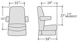 Rv Furniture Seats Custom Motorhome Leather Seat Sedona Ii